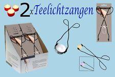2x Teelichtzange 26cm Teelichthalter Zange Teelichtgreifer Kerzengreifer Greifer
