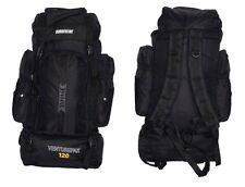 XLarge 120L Travel Hiking Rucksack Backpack Camping Festival Luggage Bag Black
