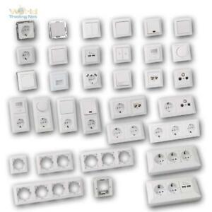 MILOS Schalter Steckdosen Unterputz Schalterserie weiß-matt UP Schalterprogramm