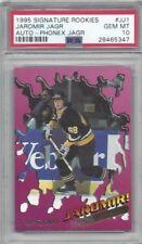 1995 Signature hockey card #JJ1 Jaromir Jagr, Pittsburgh Penguins graded PSA 10