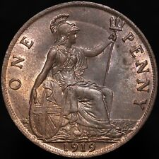 More details for 1919   george v one penny   bronze   coins   km coins