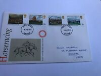 GB 1979 FDC Horseracing, Leicester  post Mark. 6 June First Day Cover Horse
