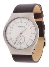 BERING Herren Armbanduhr Funkuhr Braun 51940-570