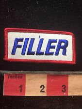"FILLER Tab Patch -Possibly Gas Station Attendant Gasoline Tank ""Filler"" C76Q"