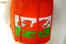 Wales Welsh Dragon Bar/Half Apron  Red with  Front Pocket and Loooooong Ties