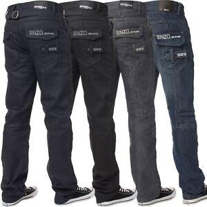 ENZO Boys Designer Jeans Straight Leg Fit Kids Denim Pants All Waist Sizes