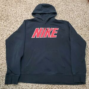 Nike Black Spell Out Hoodie Hooded Sweatshirt Mens Size Large