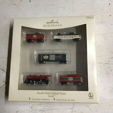 Hallmark Keepsake 5 Miniature Ornaments 2007 North Pole Central Train Lionel
