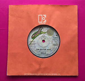 """A105, The Guitar Man, Bread, 7"""" 45rpm Single, Very Good Plus Condition"""