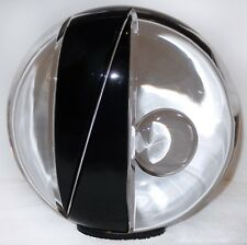 Livio Seguso Murano Glass ORB Ogetti Sculpture Black Clear CUT Glass 25 pounds