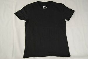 WHITE NOISE CLOTHING DISTRESSED PLAIN BLACK CHARCOAL T SHIRT NEW OFFICIAL
