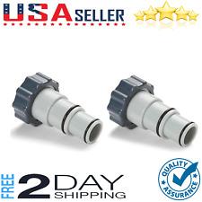 2 Pack Pool Filter Pump Chlorine Hose Adaptor Generator Replacement Accessories