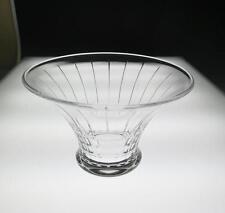 Vintage Orrefors Clear Glass Centerpiece Bowl Faceted Signed Art Vase Sweden