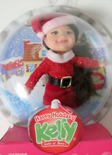 "Barbie Kelly KAYLA ""Happy Holidays"" Doll or Ornament Santa Outfit 2007"