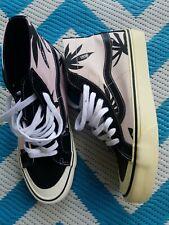 Vans Pink & Black Palm Tropic Print Hightops New