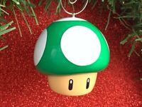 ONE OF A KIND Super Mario Bros Green Mushroom Custom Christmas Tree Ornament