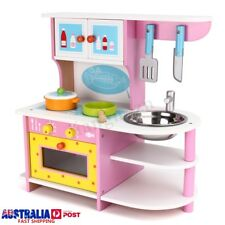 Girl Kid Wooden Kitchen Role Play Pretend Cooking Set Child Baby Cook Toy Gift