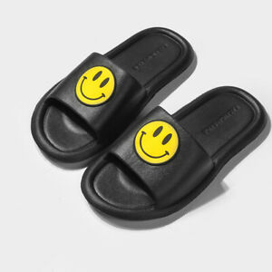 Summer Indoor Shower Bath Slippers Smiley Women Men Non-Slip Home Sandals Shoes