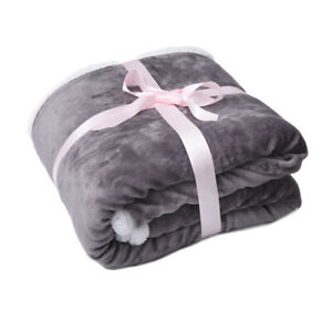 Time2sleep Reversible Sherpa Blanket and Throw double king zise (180cm* 200cm).