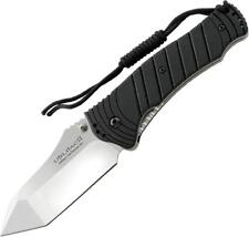 Ontario Joe Pardue Utilitac II Linerlock Stainless Satin Black Handle Knife 8916