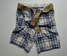 Abercrombie & Fitch Men's Belted Plaid Checked Shorts A&F Shorts with Belt 31