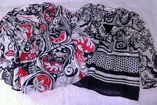 Girls Byer girl SM dress shirts  tops blouse holiday black white red size small