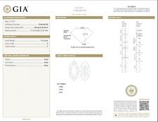 1.10 Carat Loose D / I1 Marquise Brilliant Cut Diamond GIA Certified
