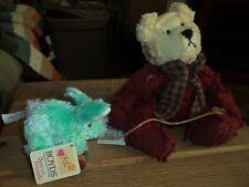 from grandma's heart Logan stuffed bear and boyds rabbit bears & friends