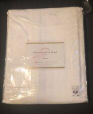 "Pottery Barn Foundations Textured Cotton Drape Tab Top 50 X 96"" Curtain Panel"