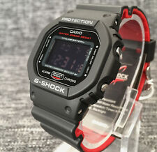 Casio G Shock Dw-5600hr-1er Black & Red Digital WR 200m