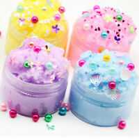 Flower Pearl Cotton Mud Puff Slime Putty Scented Stress Kids Clay Toy Blue 60ml