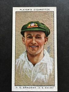 DON BRADMAN : Players Cricketers 1934 #36 Cond VG