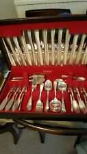 Vintage Insignia Plate 62 Pce Canteen Silver Plate Cutlery EPNS 6 place Grecian