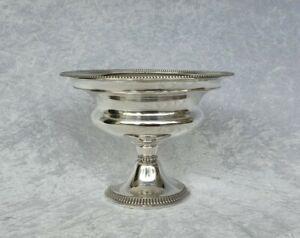 Biedermeier Tafelaufsatz 12 Lot 750 Silber Konfekt Schale Antik Fußschale