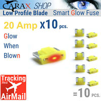 Fuses MINI LOW PROFILE blade 20A AUTO CAR LED indicator GLOW WHEN BLOWN ATC ATO