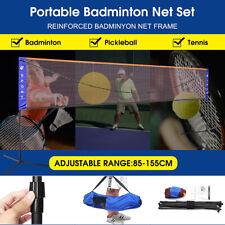 20 Feet Portable Badminton Volleyball Tennis Net Set w/ Stand & Frame Carry Bag