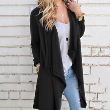 Women Autumn Winter Waterfall Loose Long Sleeve Top Cardigan Outwear Coat Jacket