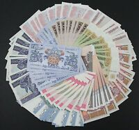 100pcs 10 countries Different paper money UNC Banknotes Brand New Uncirculated