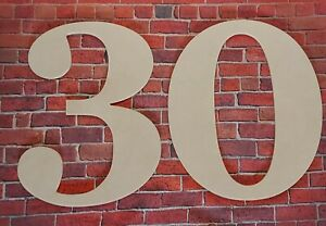 Wooden numbers-Hand made-MDF-Names,Signs-Georgia-10 cm to 80 cm high