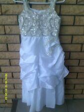 "Girls Near New ""Chic Baby"" White Flower Girl/Bridesmaid Dress Size 10"