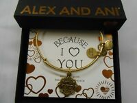 Alex and Ani Because I Love You SISTER III Bracelet Rafaelian Gold NWTBC