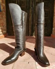 Cavalry Boots Mens Size 10Ee genuine Civil War Chocolate leather cosplay