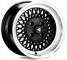 (Set of 4) 15x8 +25 Enkei ENKEI92 4x100 Black  Wheels