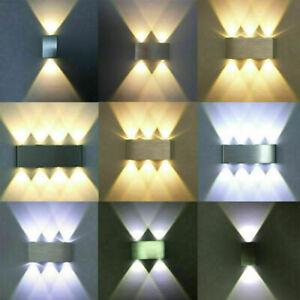 Pro LED Wandleuchten Wandlampe Up Down Licht Treppenhaus Innenleuchten Aluminium