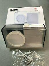 Rarität LEXON LA94 Flow FM RADIO  Farbe weiß transparent Design von Philip Wong