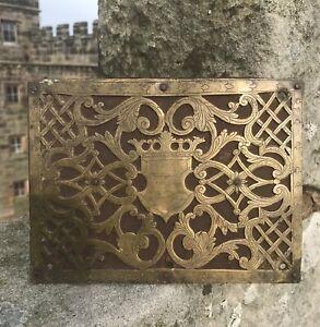 16th 17th Century Iron and BrasS Strong Box Lock Plate Nuremberg Eisenkassette.
