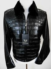 $29340 FREDO FERRUCCI Crocodile Alligator Leather Mink Fur Jacket Size XL