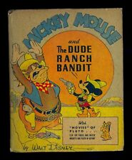 1943 Mickey Mouse & the Dude Ranch Bandit Big/Better Little Book #1471 - FN