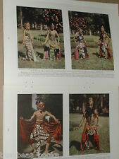 1929 magazine articles x2 on JAVA, Natives, history, color photos, South Pacific