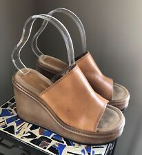 Vtg 90's Y2K Candies � Hippie Gypsy Leather Platform Sandals 👡 7